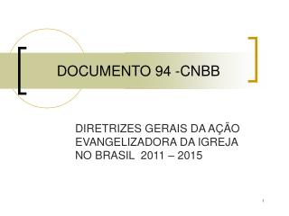 DOCUMENTO 94 -CNBB