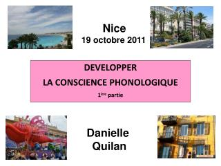 DEVELOPPER  LA CONSCIENCE PHONOLOGIQUE 1 re partie