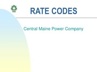 RATE CODES