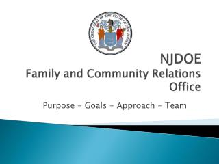 NJDOE Family and Community Relations Office