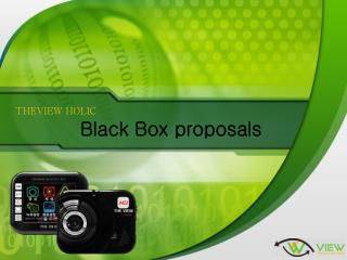 THEVIEW HOLIC Black Box proposals