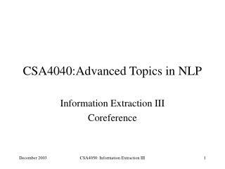 CSA4040:Advanced Topics in NLP