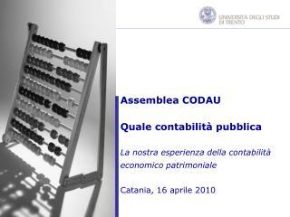 Assemblea CODAU Quale contabilità pubblica