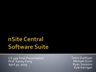 nSite  Central Software Suite
