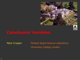 Cataclysmic Variables