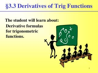 §3.3 Derivatives of Trig Functions