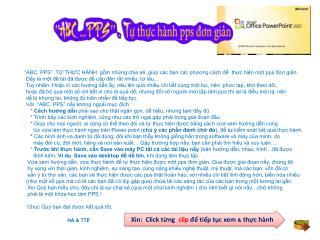 Xin :  Click  từng  clip  để tiếp tục xem & thực hành