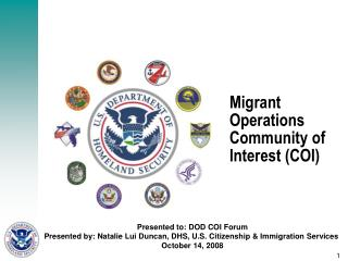 Migrant Operations Community of Interest COI