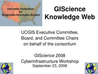 GIScience Knowledge Web