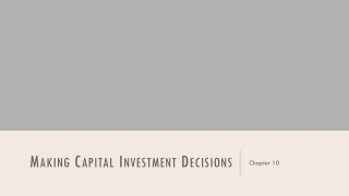 Chapter 8 Capital Budgeting and Cash Flow Analysis