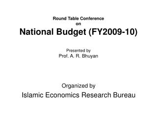 Round Table Conference on National Budget (FY2009-10)