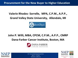 Procurement for the New Buyer to Higher Education