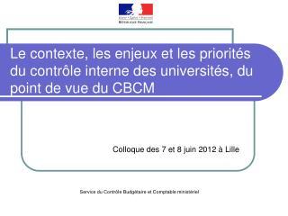 Colloque des 7 et 8 juin 2012 à Lille