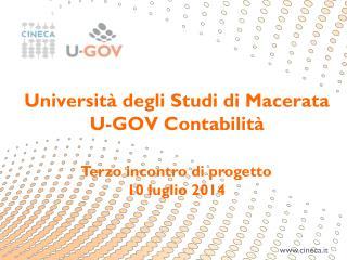 Terzo incontro di  progetto 10  luglio 2014