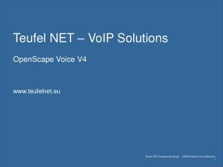 Teufel NET   VoIP Solutions  OpenScape Voice V4   teufelnet.eu