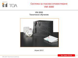 Система за гласово оповестяване VM-3000
