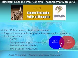 C P F M Chemical Proteomics      Facility at Marquette