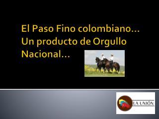 El Paso Fino colombiano� Un producto de Orgullo Nacional�
