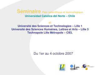 Du 1er au 4 octobre 2007