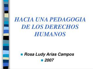 Rosa Ludy Arias Campos 2007