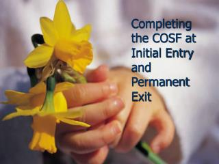 Completing the COSF at Initial Entry and Permanent Exit