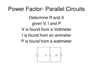 Power Factor- Parallel Circuits