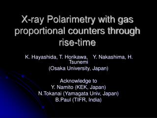X-ray Polarimetry with gas proportional counters through rise-time