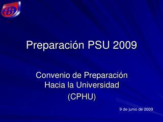 Preparación PSU 2009