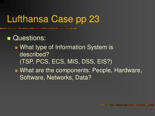 Lufthansa Case pp 23