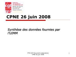 CPNE 26 juin 2008