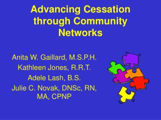 Advancing Cessation through Community Networks