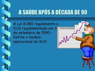 A SAÚDE APÓS A DÉCADA DE 90