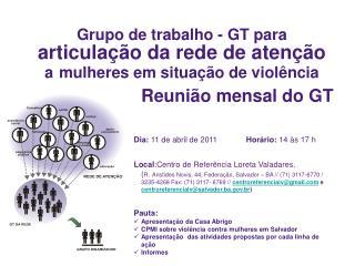 Grupo de trabalho - GT para  articulação da rede de atenção  a mulheres em situação de violência