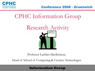 CPHC Information Group Research Activity