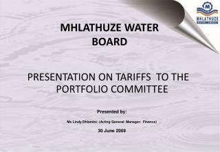 MHLATHUZE WATER BOARD
