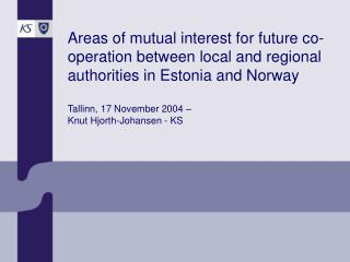 Competence of Norwegian local and regional government:
