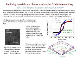 Stabilizing Novel Ground States via Complex Oxide Heteroepitaxy