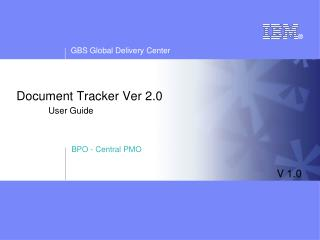 Document Tracker Ver 2.0 User Guide