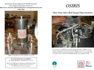 OSIRIS Ohio State Infra-Red Imager/Spectrometer