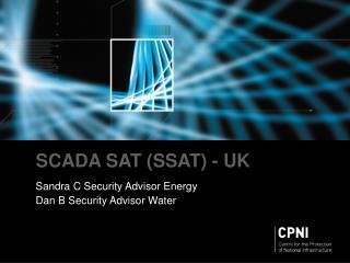 SCADA SAT (SSAT) - UK