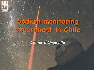 Sodium monitoring experiment in Chile