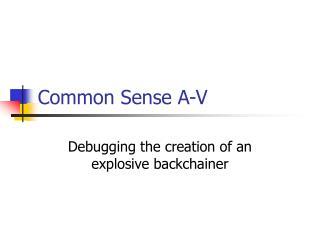Common Sense A-V