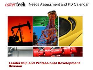 Needs Assessment and PD Calendar
