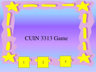 CUIN 3313 Game