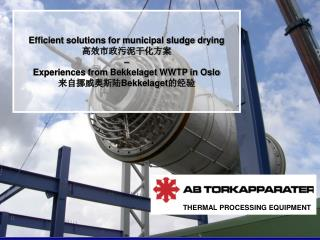 Efficient solutions for municipal sludge drying 高效市政污泥干化方案       –