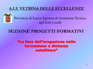 Provincia di Lecce Agenzia di Assistenza Tecnica agli Enti Locali