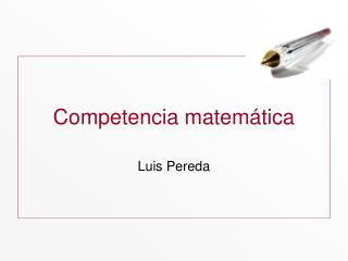 Competencia matem ática