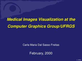 Medical Images Visualization at the Computer Graphics Group/UFRGS
