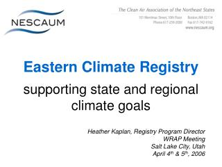 Eastern Climate Registry supporting state and regional climate goals