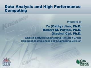 Data Analysis and High Performance Computing